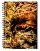 Golden Caverns Spiral Notebook