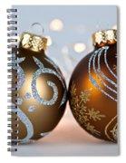 Golden Christmas Ornaments Spiral Notebook