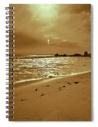 Golden Coast Sunset Spiral Notebook
