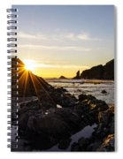 Golden Coastal Sunset Light Spiral Notebook