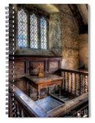 Golden Cross Spiral Notebook