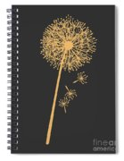 Golden Dandelion Spiral Notebook