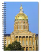 Golden Dome Of Iowa State Capital Spiral Notebook