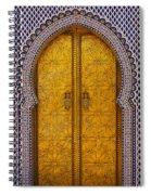 Golden Door Spiral Notebook