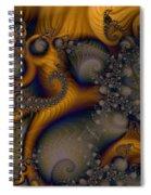 Golden Dream Of Fossils Spiral Notebook