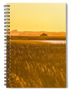 Golden End Of Day  Spiral Notebook