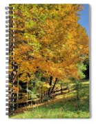Golden Fenceline Spiral Notebook