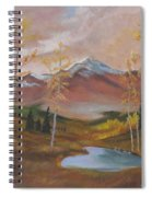 Golden Fire Of Autumn Spiral Notebook