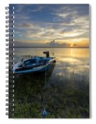 Golden Fishing Hour Spiral Notebook