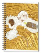 Golden Flow Stream Spiral Notebook