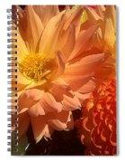 Golden Flowers Upclose  Spiral Notebook