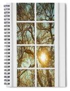 Golden Forest  Branches White 8 Windowpane View Spiral Notebook