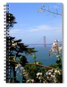 Golden Gate Bridge And Wildflowers Spiral Notebook