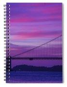 Golden Gate Bridge At Twilight Spiral Notebook