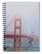 Golden Gate Bridge In Fog Spiral Notebook