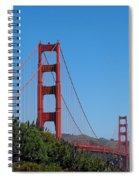 Golden Gate Bridge In Spring Spiral Notebook