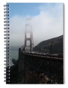 Golden Gate Bridge Pylons In A Mist Spiral Notebook