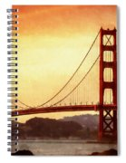 Golden Gate Bridge San Francisco California Spiral Notebook