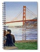 Golden Gate Bridge San Francisco - Two Love Birds Spiral Notebook