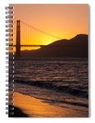 Golden Gate Bridge Sunset Spiral Notebook