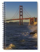 Golden Gate Bridge Sunset Study 2 Spiral Notebook