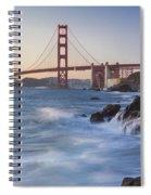 Golden Gate Bridge Sunset Study 5 Spiral Notebook