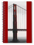 Golden Gate Bridge - Sunset With Bird Spiral Notebook