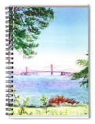 Golden Gate Bridge View Window Spiral Notebook