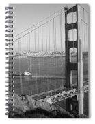 Golden Gate In Bw Spiral Notebook