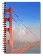 Golden Gate In Morning Fog Spiral Notebook