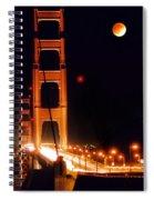 Golden Gate Night Spiral Notebook