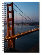 Golden Gate Sunrise Spiral Notebook