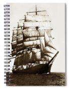 Golden Gate Tall Ship Circa 1905 Spiral Notebook