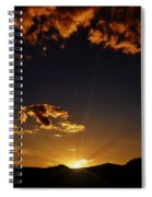 Golden Glow Spiral Notebook