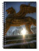 Golden Griffin Spiral Notebook