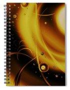 Golden Halo Spiral Notebook