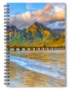 Golden Hanalei Morning Spiral Notebook