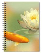 Golden Harmony Dreamscape Spiral Notebook