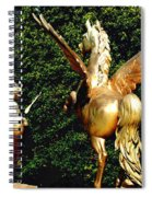 Golden Horses Spiral Notebook