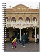 Golden Horseshoe Frontierland Disneyland Spiral Notebook