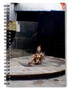 Golden Ice Skater Spiral Notebook