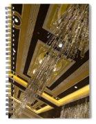 Golden Jewels And Gems - Sparkling Crystal Chandeliers  Spiral Notebook