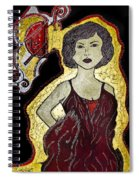 Golden Lady Spiral Notebook