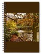 Golden Lake At Botanical Gardens Spiral Notebook