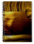 Golden Landscape Spiral Notebook
