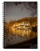 Golden Light At Boathouse Row Spiral Notebook