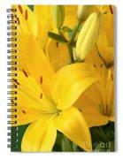 Golden Lilies Spiral Notebook