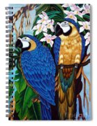Golden Macaw Hand Embroidery Spiral Notebook