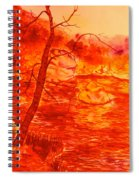 Golden Mountain Lake Morning  Spiral Notebook