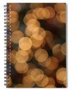 Golden Orbs Spiral Notebook